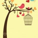 Bird Card Template or Background — Stock Vector #23240432