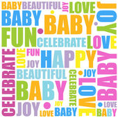 Baby Themed Background — Stock Vector