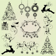 Christmas Design Elements Vector Set — Stock Vector