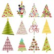 Royalty-Free Stock Vector Image: Vector Collection of Christmas Trees