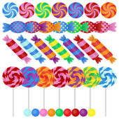 Large Vector Set of Candy — Stock Vector