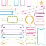 Vector Set of Hand Drawn Doodle Web Design Elements — Stock Vector