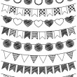 Vector Set of Hand Drawn Doodle Bunting — Stock Vector #24130705