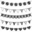 Vector Set of Hand Drawn Doodle Bunting — Stock Vector #24130713