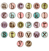 Dot Alphabet Set — Stock Vector