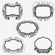 Stock Vector: Vector Set or Ornate Chandelier Frames