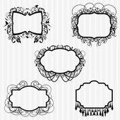 Vector Set or Ornate Chandelier Frames — Stock Vector