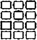 "Vector Set of Frame Silhouettes in with 8.5"" x 11"" proportion openings — Stock Vector"