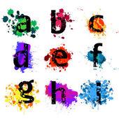 Lettere dell'alfabeto grunge — Vettoriale Stock