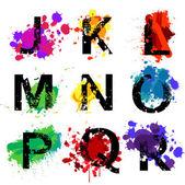 Granica liter alfabetu — Wektor stockowy