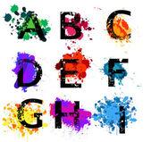 Letras do alfabeto grunge — Vetorial Stock