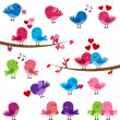 Stock Vector: Vector Collection of Cute Love Birds