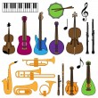 Stock Vector: Vector Collection of Musical Instruments