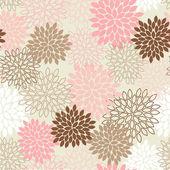 Seamless Mum Flower Background — Stock Vector