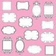 Vector Set of Doodle Frames and Borders - Stock Vector