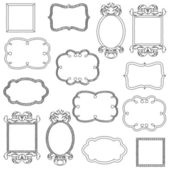 Vector Set of Doodle Frames and Borders — Stockvektor