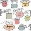 Vector Set of Vintage Signs  — Stock Vector