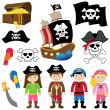 EPS10 Vector Illustration of Pirates — Stock Vector #24738137