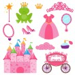 EPS10 Vector Set of Princess and Fairy Items — Stock Vector
