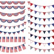 Stock Vector: Vector Set of Patriotic Bunting