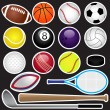 Vector Sports Set  — Stock Vector