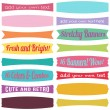 Bright Retro Stretchy Banner Vectors — Stock Vector