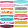 Stock Vector: Bright Retro Stretchy Banner Vectors