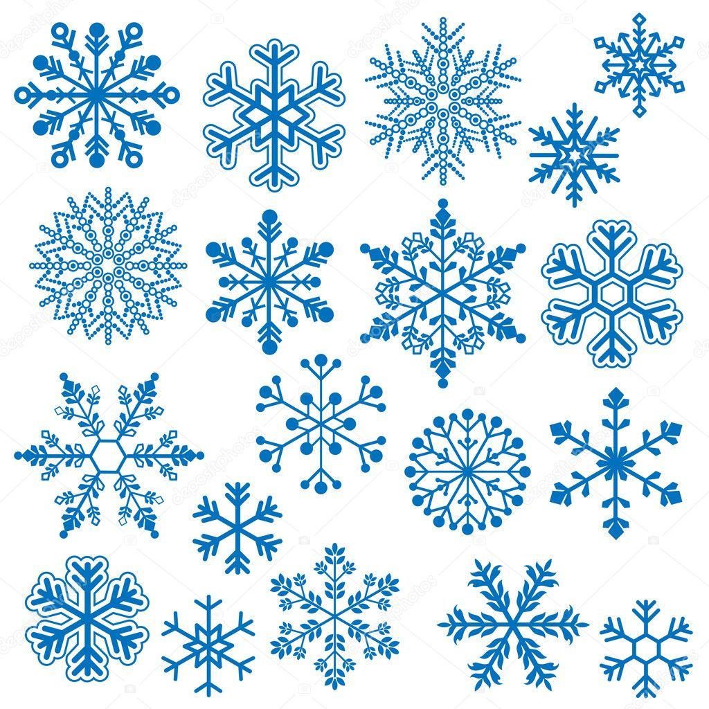 Snowflake Vectors — Stock Vector © PinkPueblo #25039287