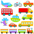 Stock Vector: Cartoon Vector Transportation Set