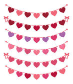 Valentine's Day Bunting — Stock Vector