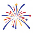 Vector Fireworks Explosion — Stock Vector #25591183