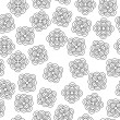 Seamless Tileable Doodle Vector Background — Stock Photo