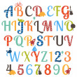 Cute Boy Themed Alphabet Vector Set — Stock Vector #26934763