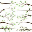 Vector collection de silhouettes de branche arbre — Vecteur #27835245