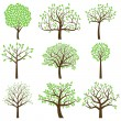 Vector Collection of Stylized Tree Silhouettes — Vector de stock  #27835317