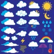 Vector Collection of Weather Icons and Symbols — Stock Vector