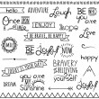 Vector Collection of Hand Drawn Doodle Word and Phrases — Stock Vector