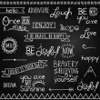 Stock Vector: Hand Drawn Chalkboard Style Words, Quotes and Decoration