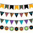 Vector Collection of Halloween Themed Bunting — Stock Vector