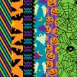 Vector Collection of Halloween Themed Seamless Tileable Backgrounds — 图库矢量图片