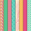 Vector Collection of Bright and Colorful Backgrounds or Digital Papers — Stock Vector #30918483