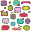 Doodle Vector Collection of Bright Frames and Borders — Stock Vector