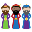 Vector Collection of the Three Wise Men or Magi — Stock Vector