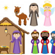 Vector Nativity Collection — Stock Vector