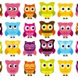 Vector Collection of Cute and Colorful Owls — Stock Vector #36781629