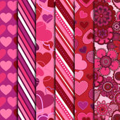 Valentine's Day Vector Backgrounds — Stock Photo