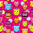 Seamless and Tileable Vector Owl Background Pattern — Stock Photo #40228825