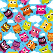 Seamless and Tileable Vector Owl Background Pattern — Stock Photo #40229083