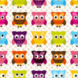 Seamless and Tileable Vector Owl Background Pattern — Stock Photo