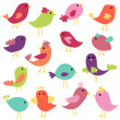 Stock Photo: Vector Collection of Abstract Birds